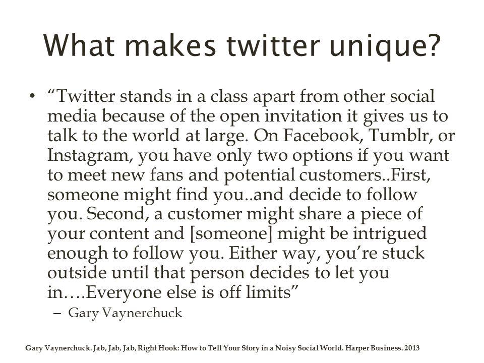 What makes twitter unique.