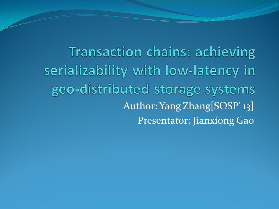 Author: Yang Zhang[SOSP' 13] Presentator: Jianxiong Gao