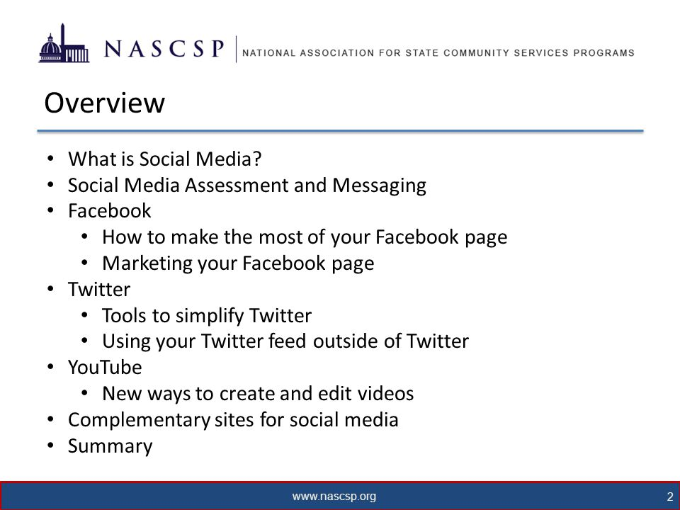 www.nascsp.org 3 What is Social Media.