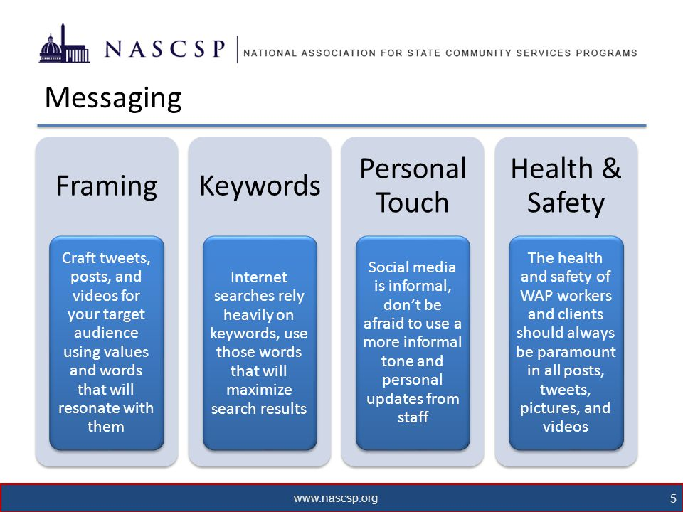 www.nascsp.org 6 Facebook Some new features for Facebook Pages: 1.Ask Your Facebook Fans Questions How has WAP had an impact on your life.