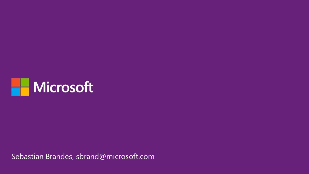 Sebastian Brandes, sbrand@microsoft.com