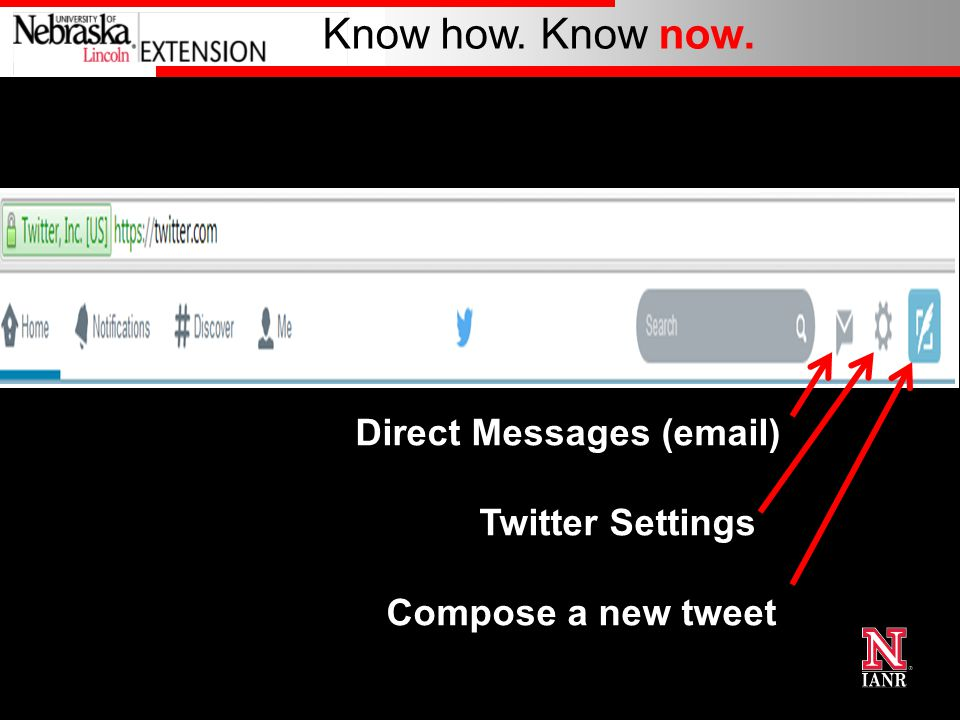 Know how. Know now. Direct Messages (email) Twitter Settings Compose a new tweet