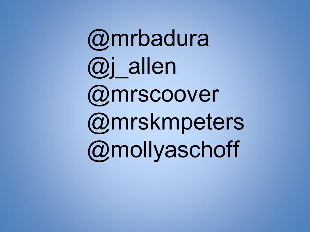 @mrbadura @j_allen @mrscoover @mrskmpeters @mollyaschoff
