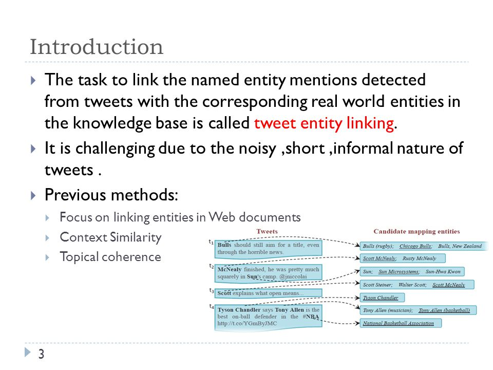 Outline 4  Introduction  Tweet entity linking  KAURI Framework  Experiment  Conclusion