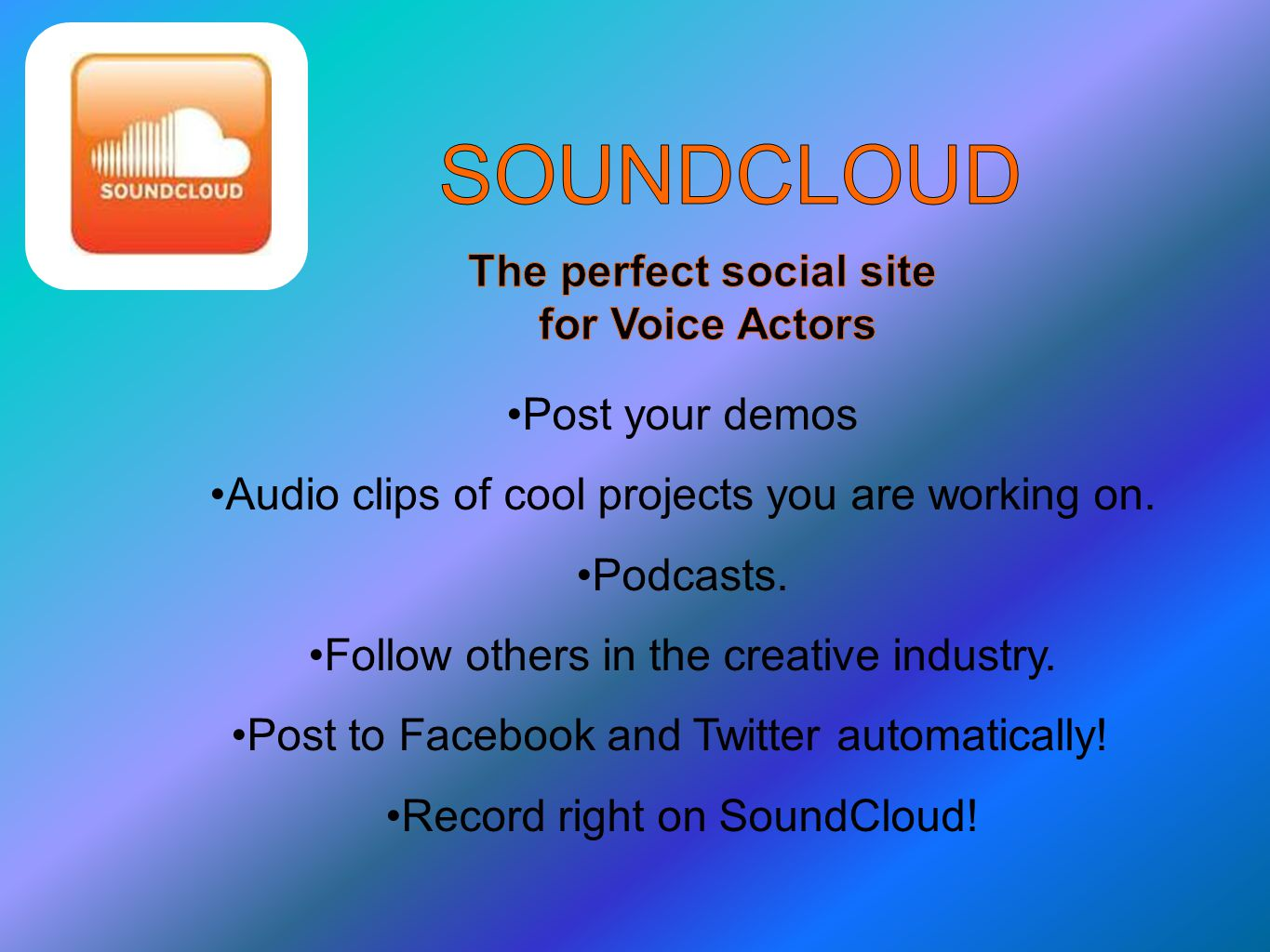 Post your demos Audio clips of cool projects you are working on.
