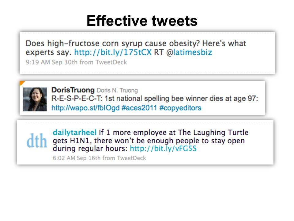 Effective tweets