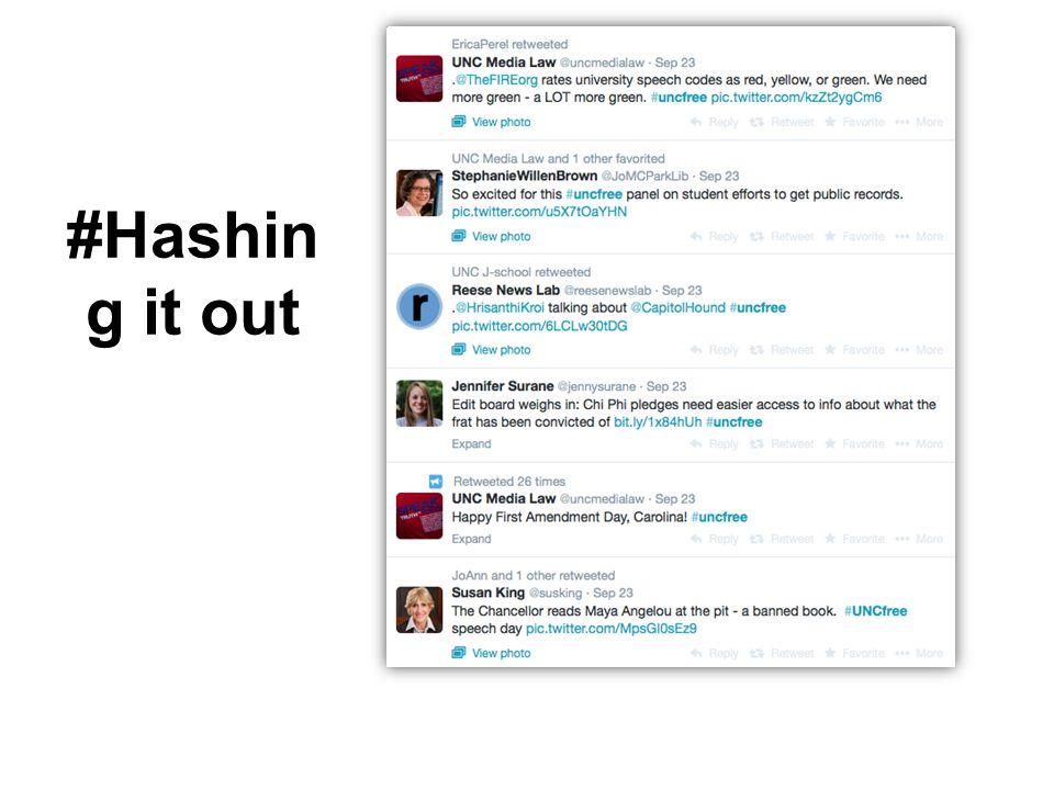 #Hashin g it out
