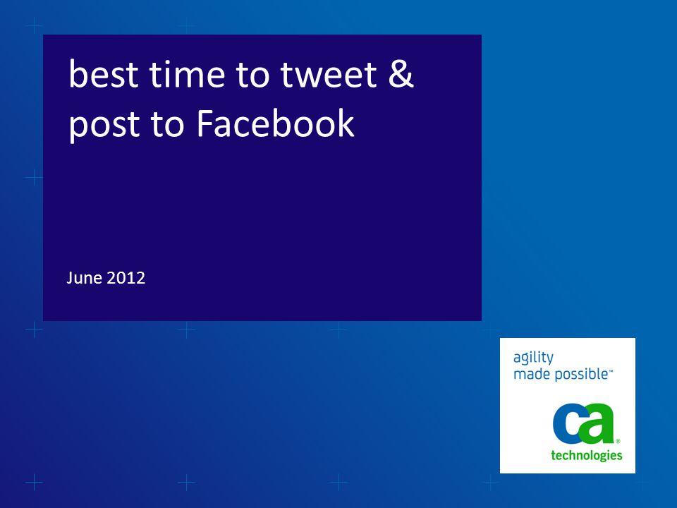 best time to tweet & post to Facebook June 2012