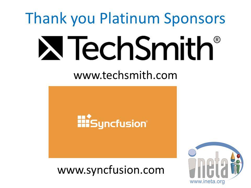 Thank you Gold & Silver Sponsors www.wintellectnow.com www.devexpress.com www.componentone.com www.pluralsight.com