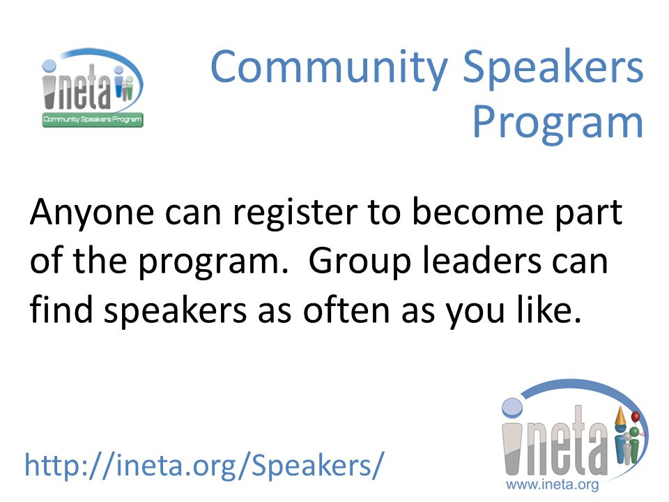 Special Offers for INETA Members and Groups ineta.org/offers