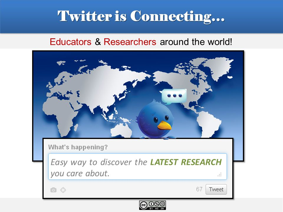 Twitter is Connecting… Easy way to discover the LATEST RESEARCH you care about.