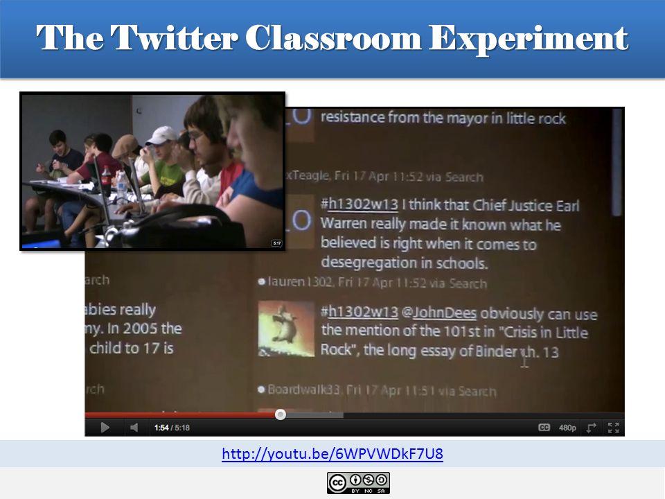 The Twitter Classroom Experiment http://youtu.be/6WPVWDkF7U8