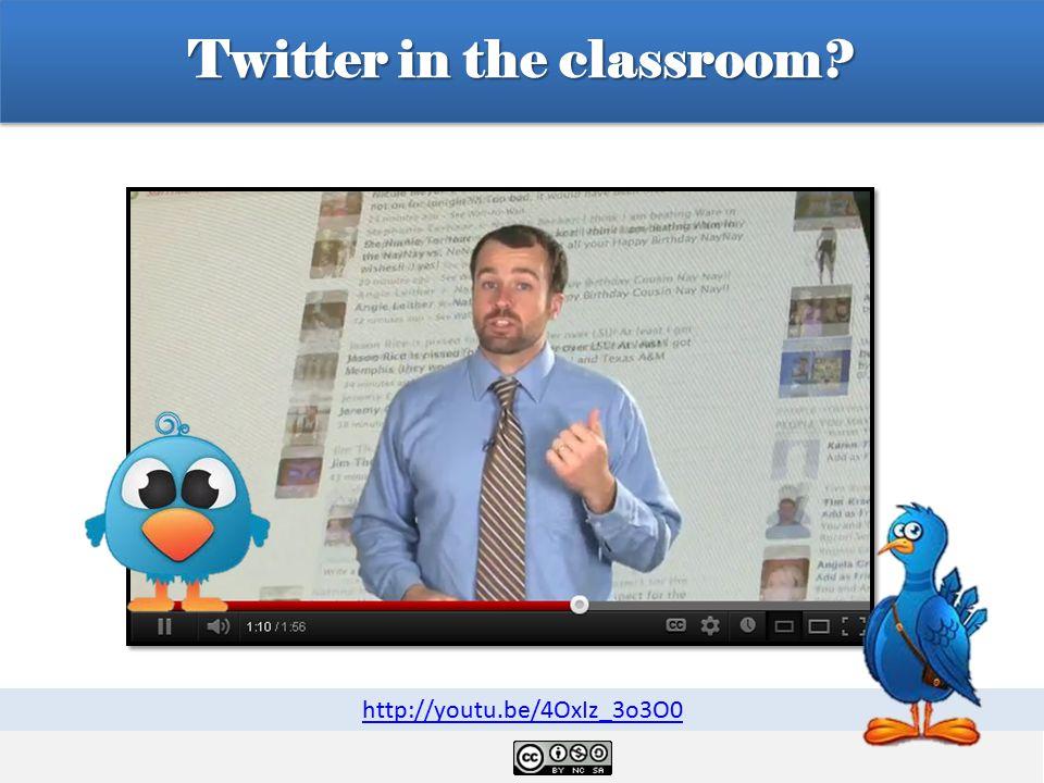 Twitter in the classroom http://youtu.be/4OxIz_3o3O0