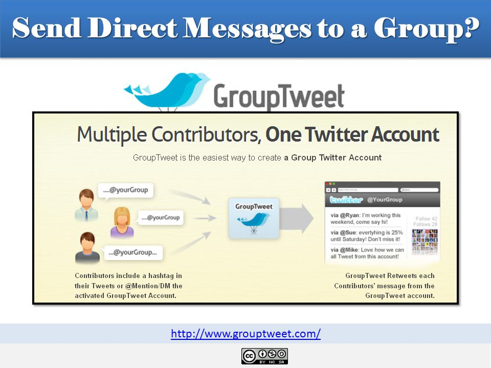 Send Direct Messages to a Group http://www.grouptweet.com/