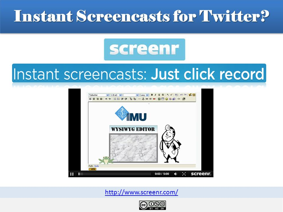 Instant Screencasts for Twitter http://www.screenr.com/