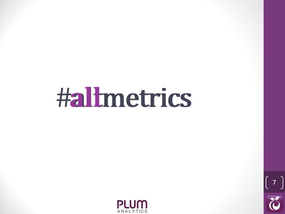 altmetrics 7 #altmetricsallmetrics