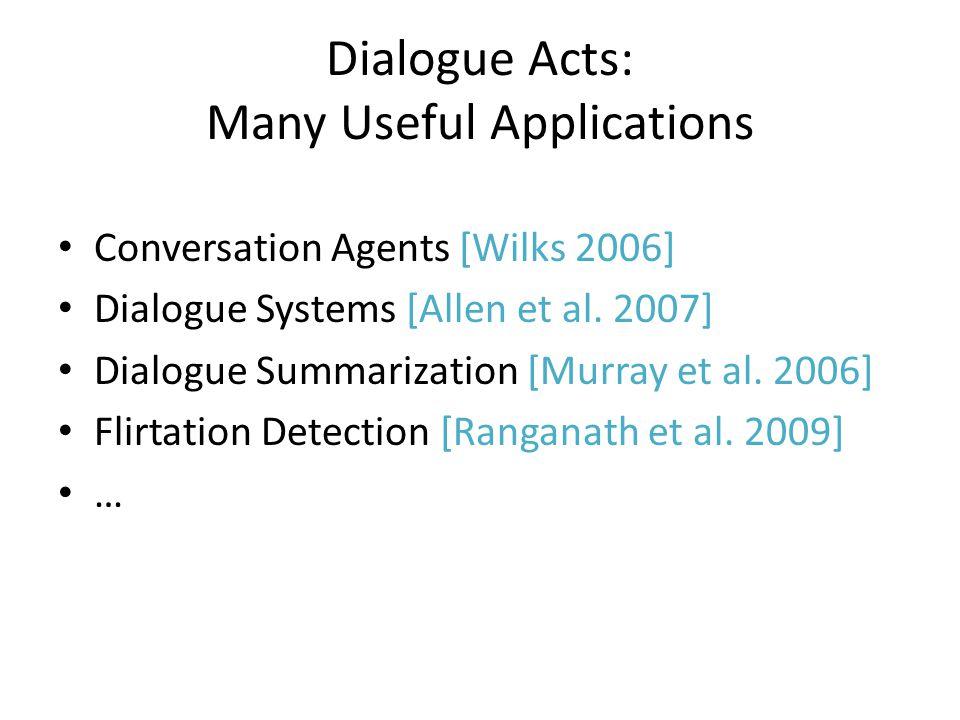 Traditional Approaches Gather Corpus of Conversations – focus on speech data Telephone Conversations - [Jurafsky et.