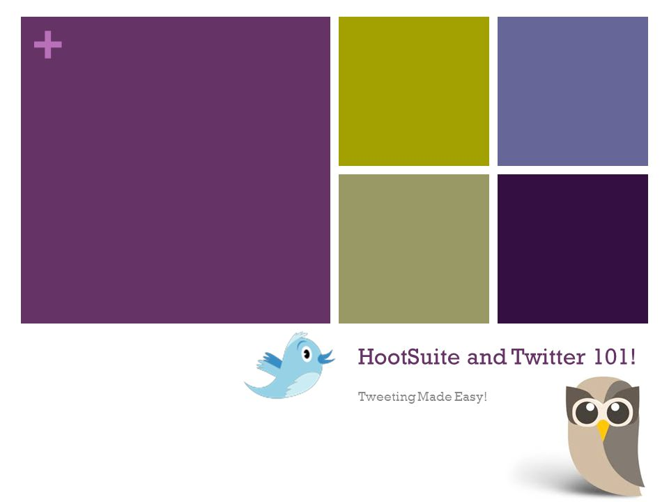 + HootSuite and Twitter 101! Tweeting Made Easy!