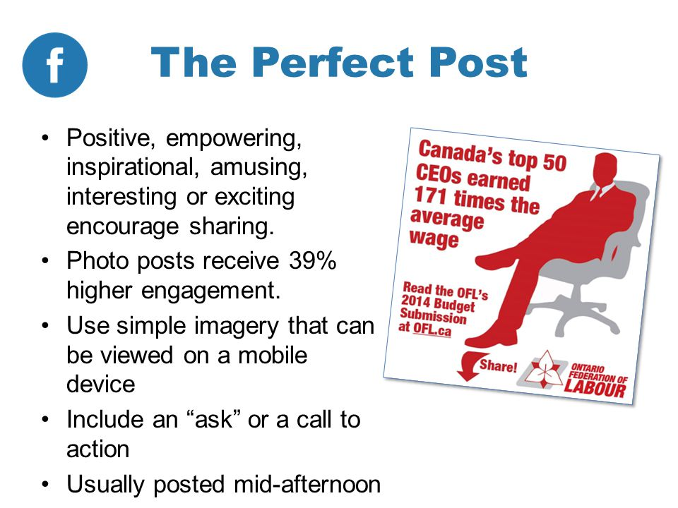 The Perfect Post Positive, empowering, inspirational, amusing, interesting or exciting encourage sharing.