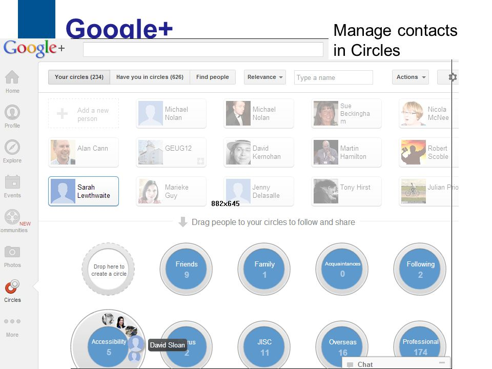 Google+ 37 Manage contacts in Circles