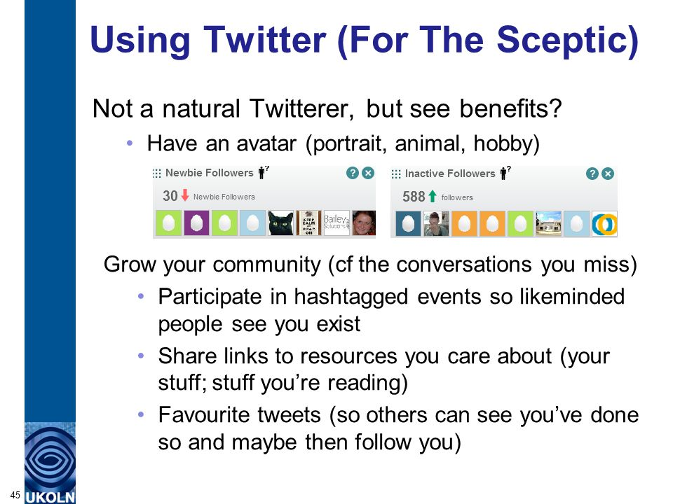 Using Twitter (For The Sceptic) Not a natural Twitterer, but see benefits.