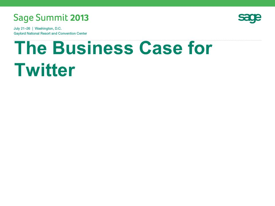 The Business Case for Twitter