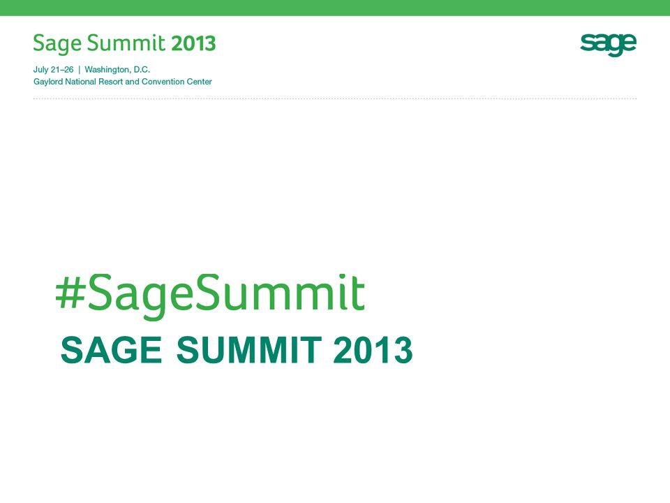 SAGE SUMMIT 2013
