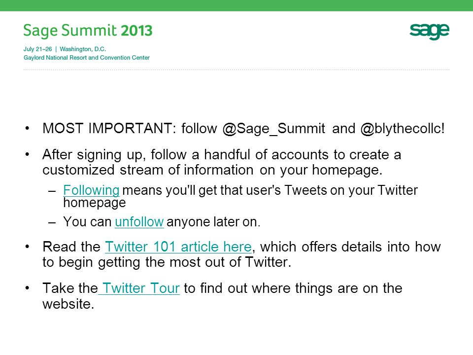MOST IMPORTANT: follow @Sage_Summit and @blythecollc.