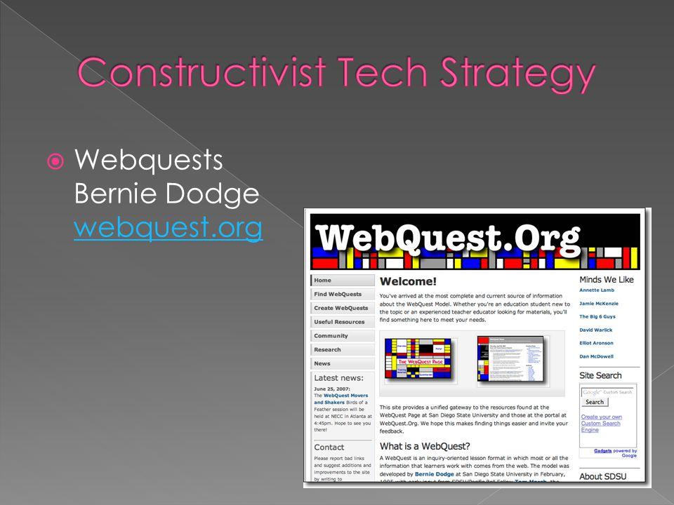  Webquests Bernie Dodge webquest.org webquest.org