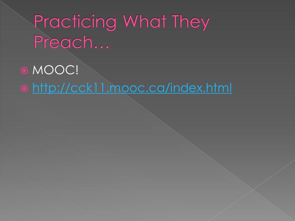  MOOC!  http://cck11.mooc.ca/index.html http://cck11.mooc.ca/index.html