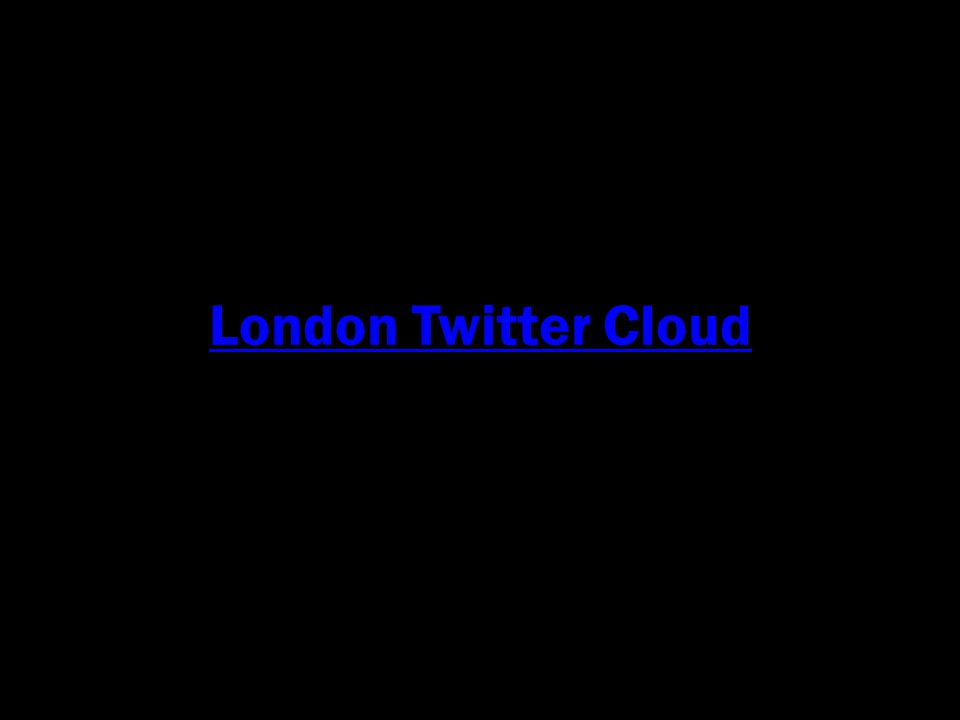 London Twitter Cloud