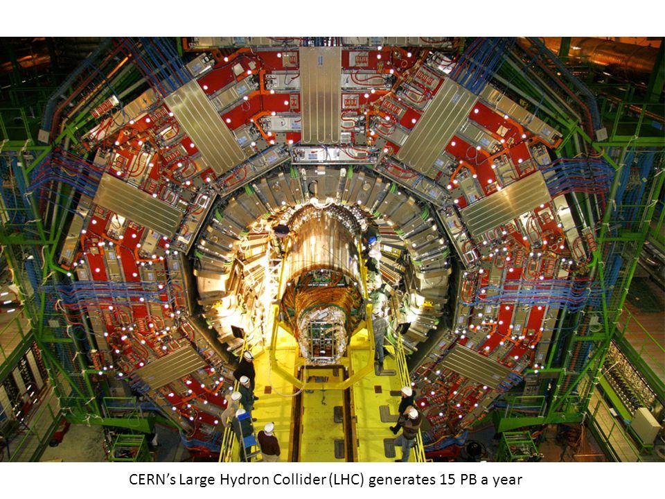 Maximilien Brice, © CERN CERN's Large Hydron Collider (LHC) generates 15 PB a year