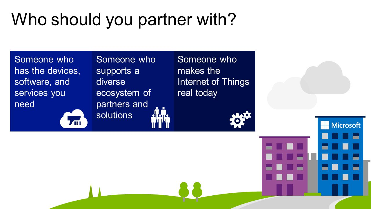Who should you partner with.