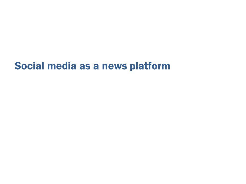 Social media as a news platform