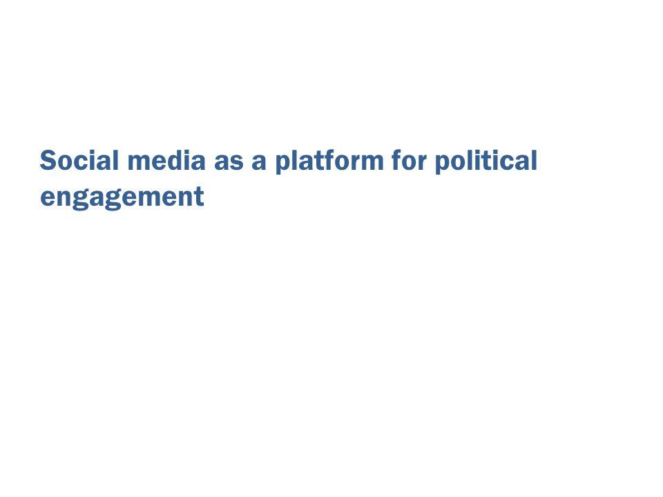 Social media as a platform for political engagement