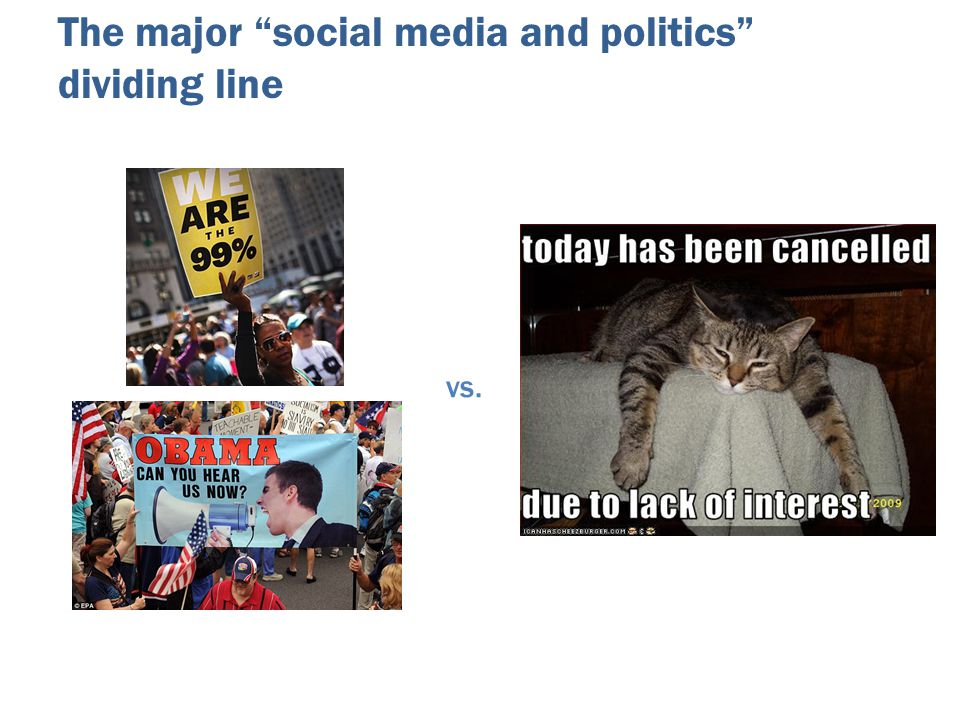 The major social media and politics dividing line vs.