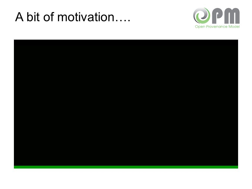 A bit of motivation….
