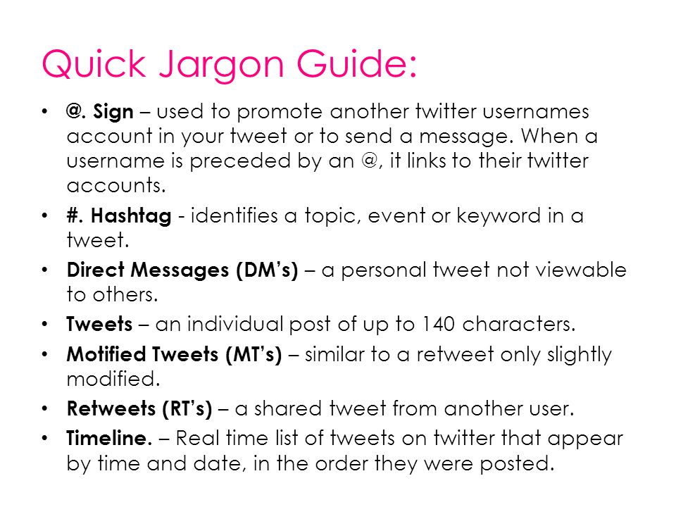 Quick Jargon Guide: @.