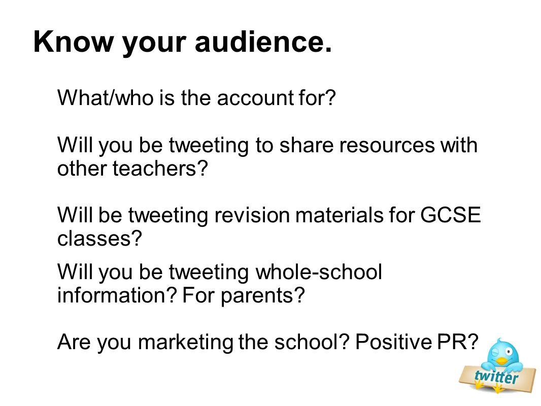 What/who is the account for. Will you be tweeting to share resources with other teachers.