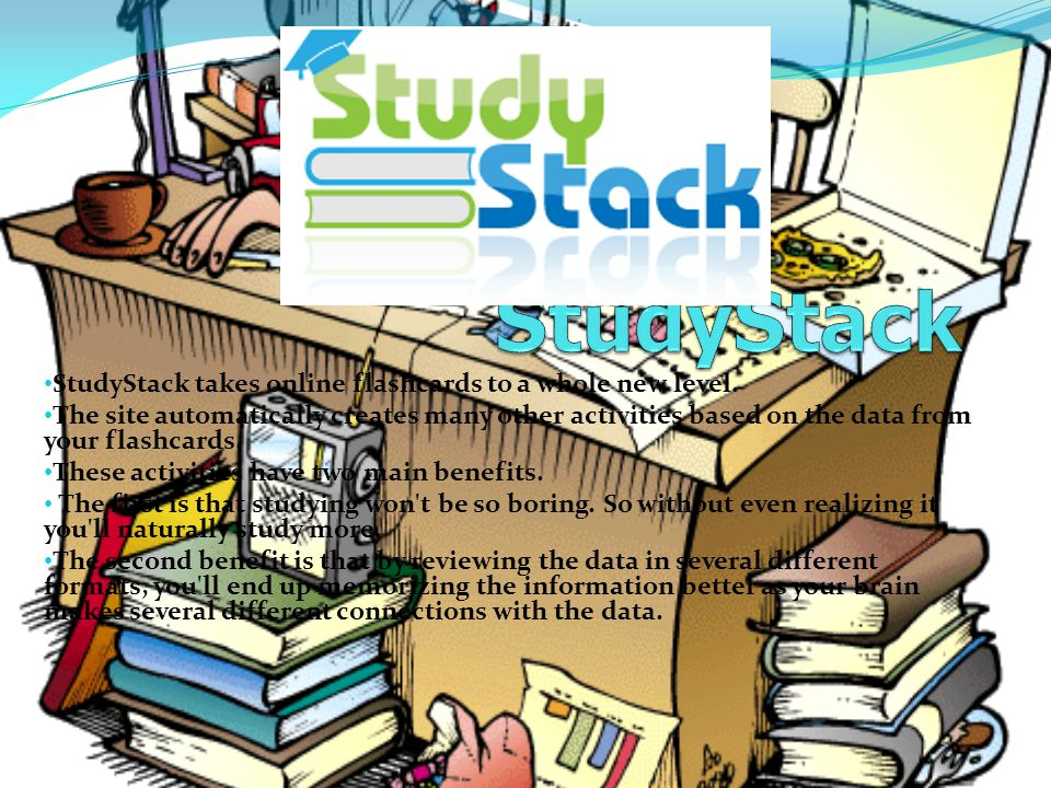 StudyStack takes online flashcards to a whole new level.