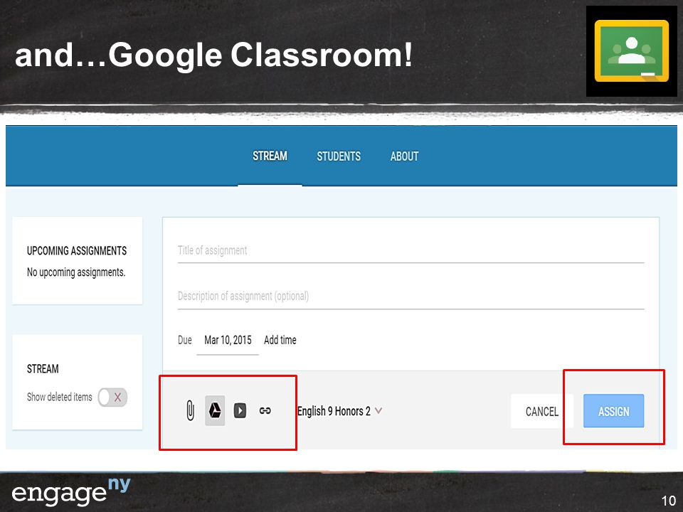 and…Google Classroom! 10