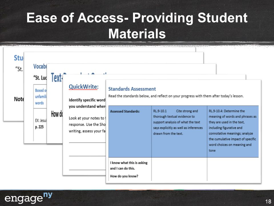 Ease of Access- Providing Student Materials 18