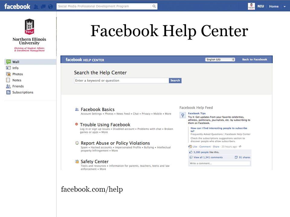 Facebook Help Center facebook.com/help