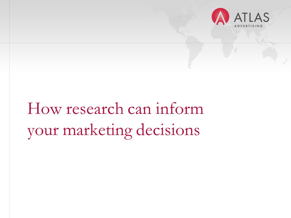 How research can inform your marketing decisions