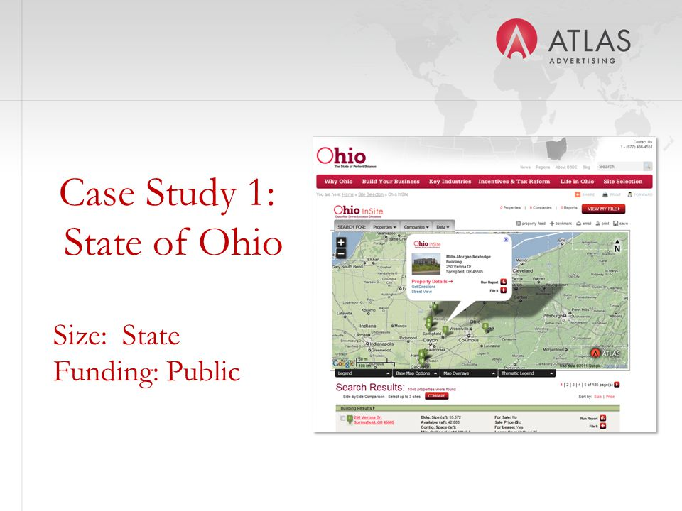 Case Study 1: State of Ohio Size: State Funding: Public