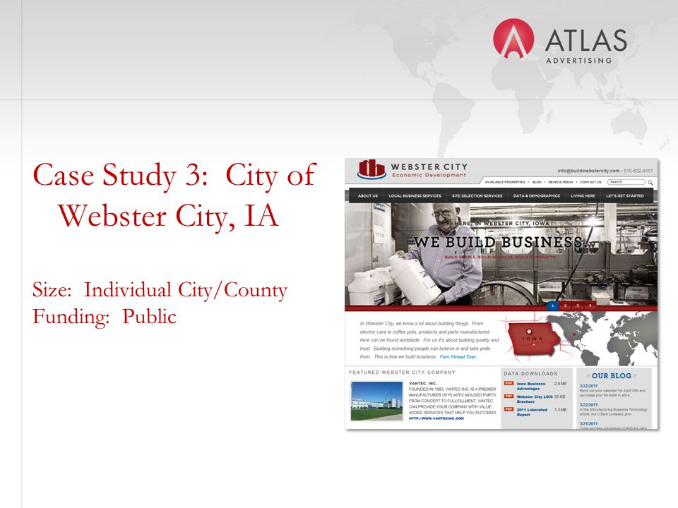 Case Study 3: City of Webster City, IA Size: Individual City/County Funding: Public