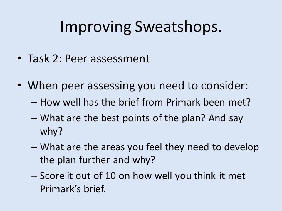 Improving Sweatshops.