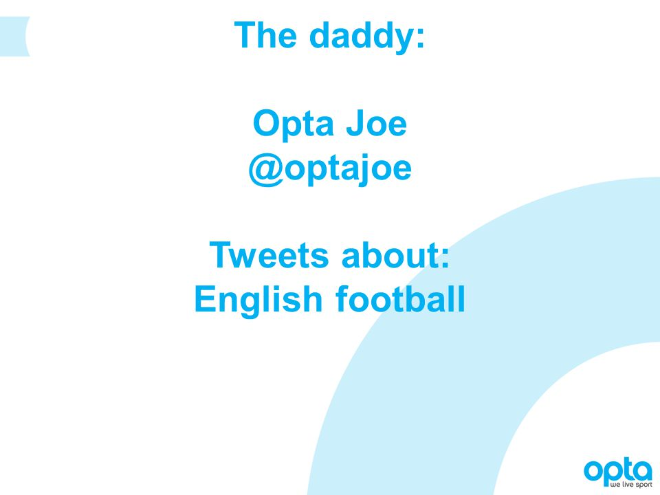 The daddy: Opta Joe @optajoe Tweets about: English football