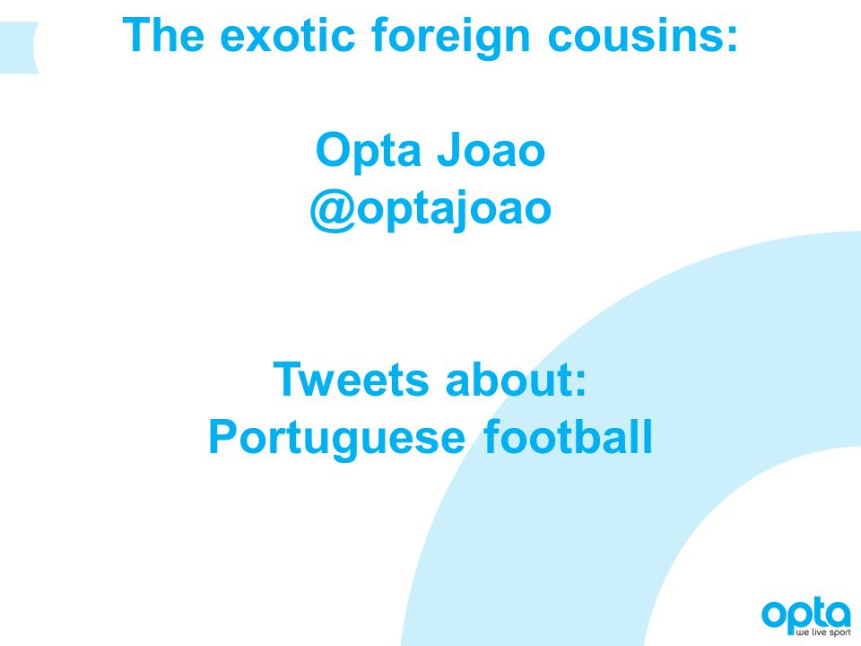 The exotic foreign cousins: Opta Joao @optajoao Tweets about: Portuguese football