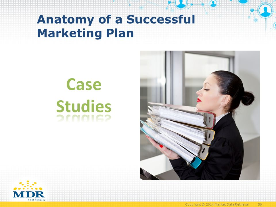 Copyright © 2014 Market Data Retrieval 56 Anatomy of a Successful Marketing Plan
